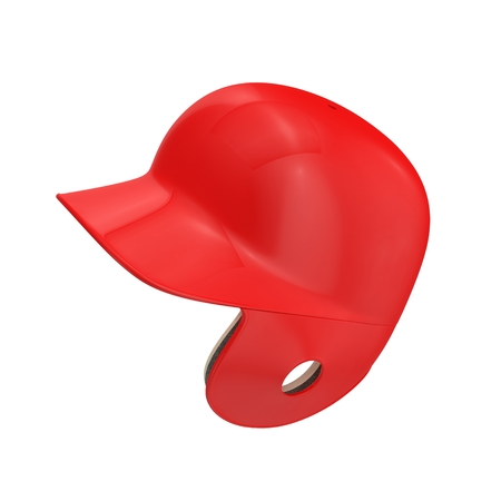batting: Baseball batting helmet isolated on white background. 3D illustration