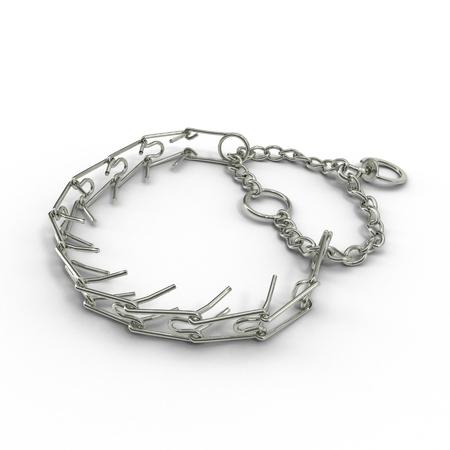 dog training collar on a white background. 3D illustration Stock Photo