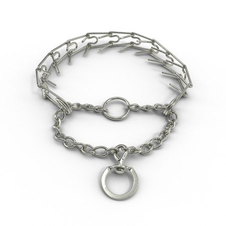 Dog Chain Collar on a white background. 3D illustration