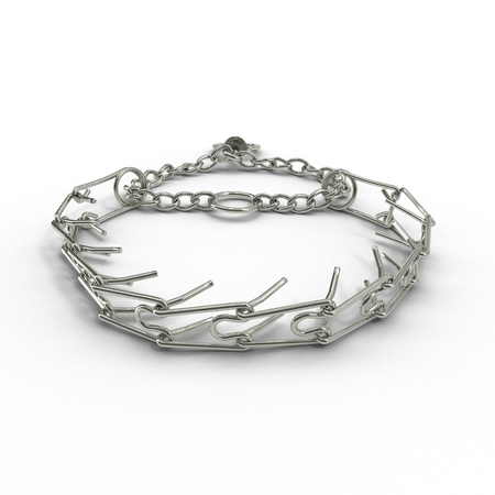 stainless steal: A dog chains isolated on a white background. 3D illustration