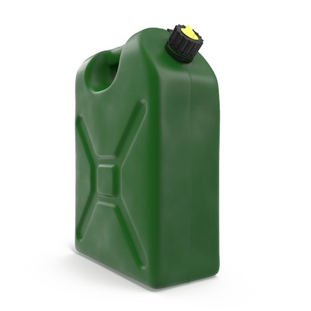 canister: Gasoline canister on white background. 3D illustration