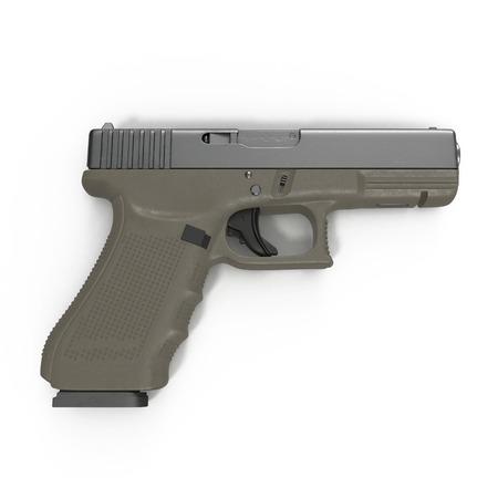 top gun: Isolated gun on white background. 3D illustration