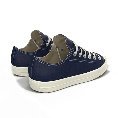 convenient: Convenient for sports mens blue sneakers. Presented on a white background. 3D illustration