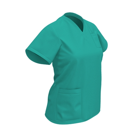 operation: Green operation T-shirt isolated on white background. 3D illustration