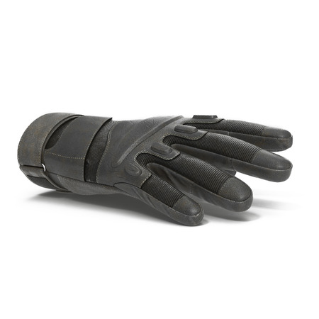 tactical: outdoor riding hiking climbing training tactical glove on white background. 3D illustration Stock Photo