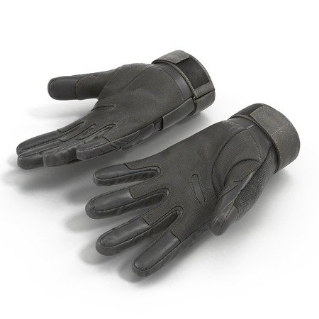 tactical: Tactical military gloves, part of Us soldier uniform. Isolated on white background. 3D illustration