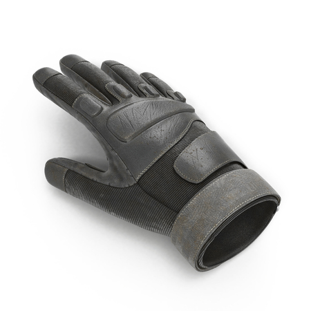 tactical: Soldier outdoor winter skiing cycling ride tactical military glove on white background. 3D illustration