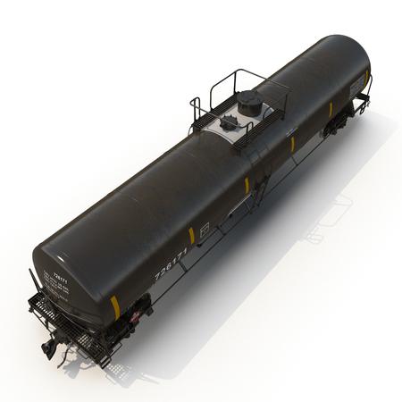 tank car: Railroad tank car on white background. 3D illustration