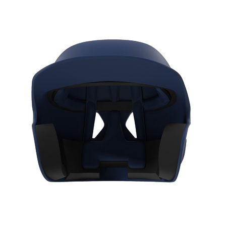 Blue baseball helmet on white background. Front view. 3D illustration