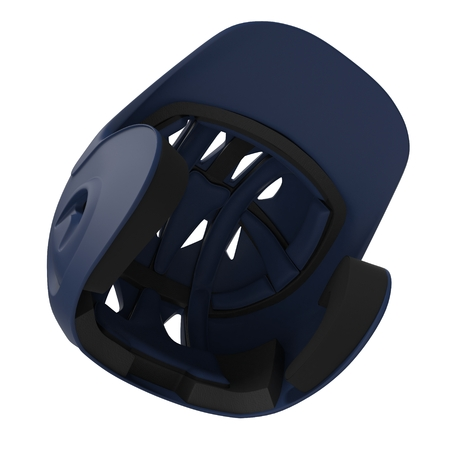 Baseball helmet on white background. 3D illustration