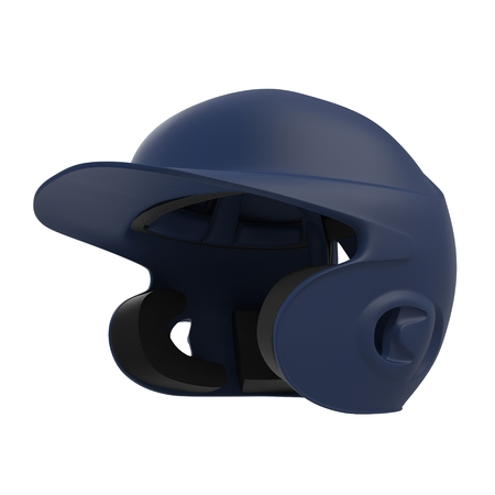 Blue baseball helmet on white background. 3D illustration