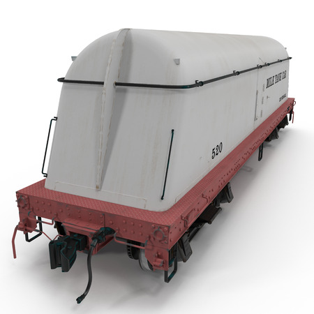 tank car: milk tank car on white background. 3D illustration