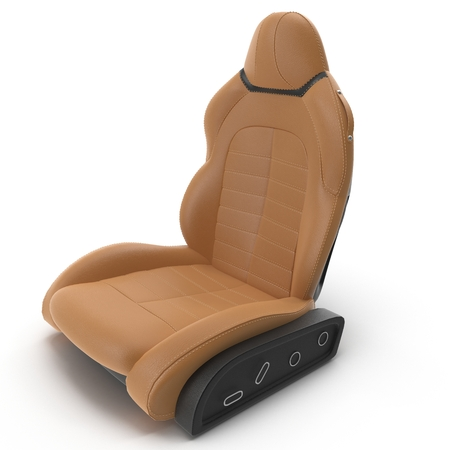 Sport Car Front Seat on white background. 3D illustration Stock Photo