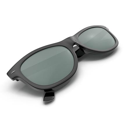 sunglasses isolated: Folded Black sunglasses isolated on white. 3D illustration