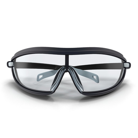 Safety Sport Glasses on white. 3D illustration