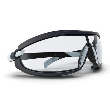 eyewear fashion: Safety Sport Glasses on white. 3D illustration