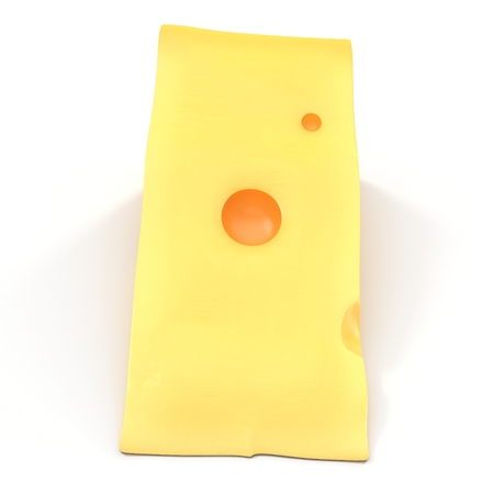 edam: Wedge of cheese on white. 3D illustration