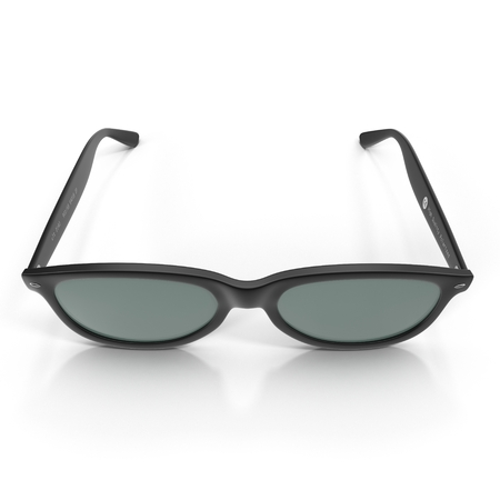 Black sunglasses isolated on white. Front view. 3D illustration Stock Photo