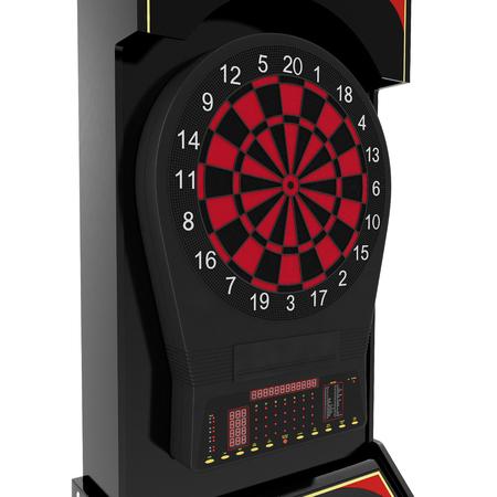 dartboard: Electronic Dartboard Machine on white. 3D illustration
