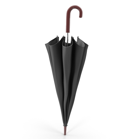 Umbrella Closed on white. 3D illustration Zdjęcie Seryjne