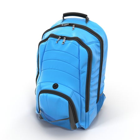 Backpack isolated on white. 3D illustration