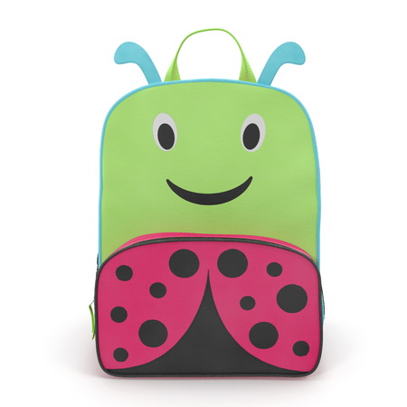 Ladybug Kids Back Pack Front view 3D illustration Stock Photo