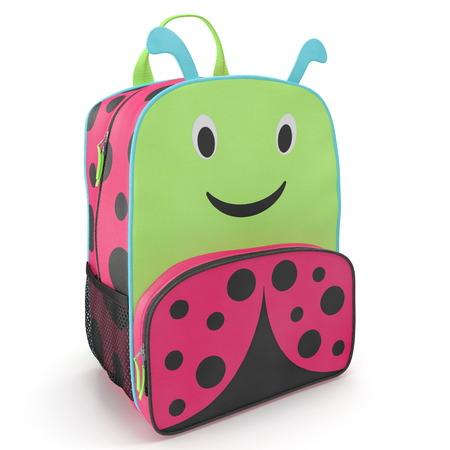 Little Kid Ladybug Backpack 3D illustration