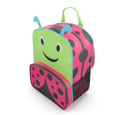 Girls Ladybug School Backpack 3D illustration