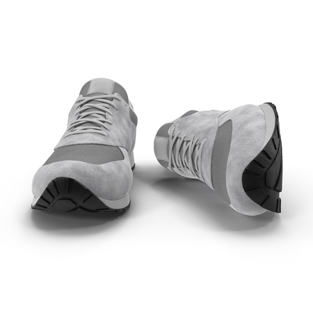 pair of sport trainers 3D illustration