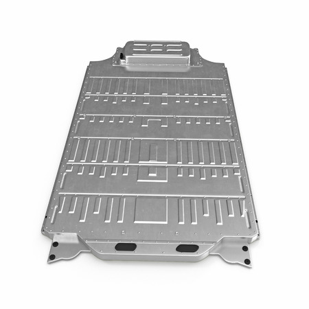 car: Electric Car Battery Pack on white. 3D illustration