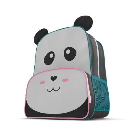 Little Kid Backpack Panda on a white. 3D illustration