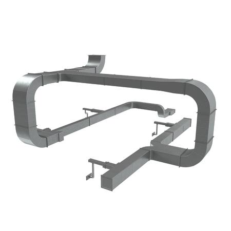Sistema di tubi di ventilazione su bianco. Illustrazione 3D Archivio Fotografico - 74323925
