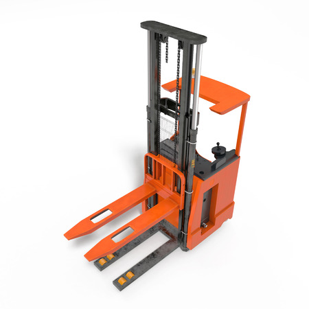 Angle from up Rider Stacker on white. 3D illustration