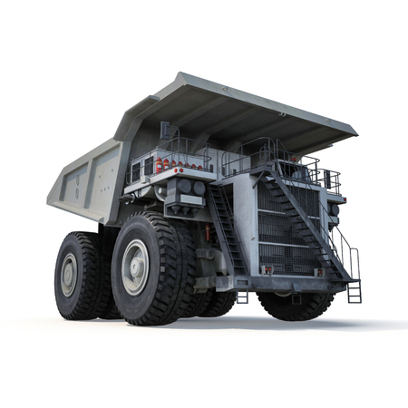 big truck on the white background. 3D illustration Stock Photo