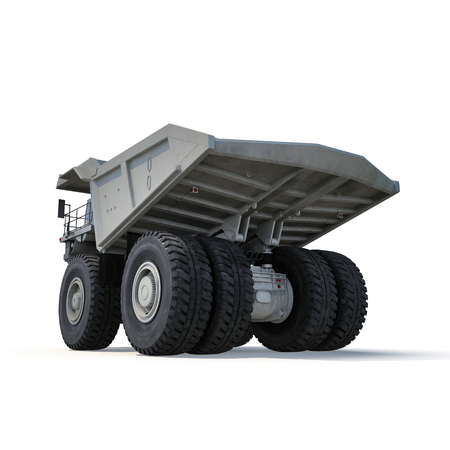 industrial machinery: Heavy mining truck on white background. 3D illustration