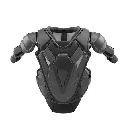 pad: Hockey Shoulder Pads on white. Front view. 3D illustration