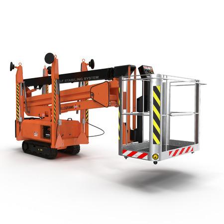 Lifting machine isolated on white background. 3D illustration Stock Photo