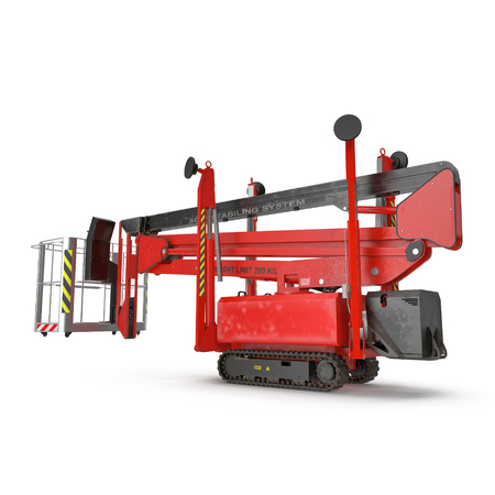 Lifting machine isolated on white background. 3D illustration Banco de Imagens