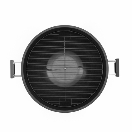 barbecue stove: Barbecue grill isolated on white background. Top view. 3D Illustration, clipping path
