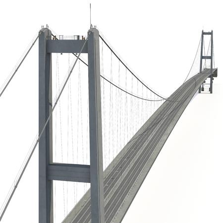 Bosporus brug op wit. 3D illustratie Stockfoto