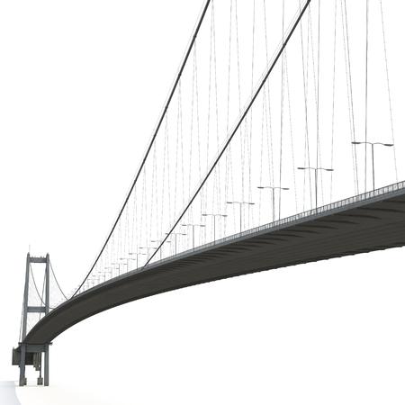 Bosphorus Bridge on white. 3D illustration Imagens