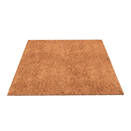 A floor brown rug isolated on a white background. 3D illustration Imagens