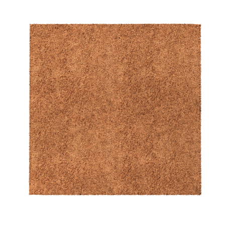 Rug isolated on white background. Top view. 3D illustration, clipping path Banco de Imagens