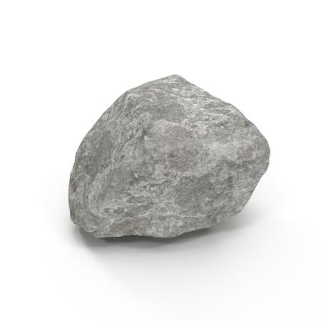 granite: Stone isolated on white background