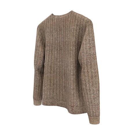 Blank Sweater on white background. Front view. 3D illustration, Clipping Path