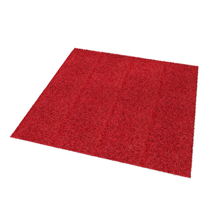 A floor red rug isolated on a white. 3D illustration Imagens