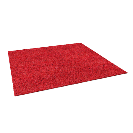 A floor red rug isolated on a white background. 3D illustration