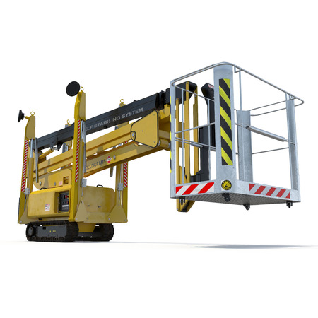 Lifting machine isolated on white background. 3D illustration, clipping path