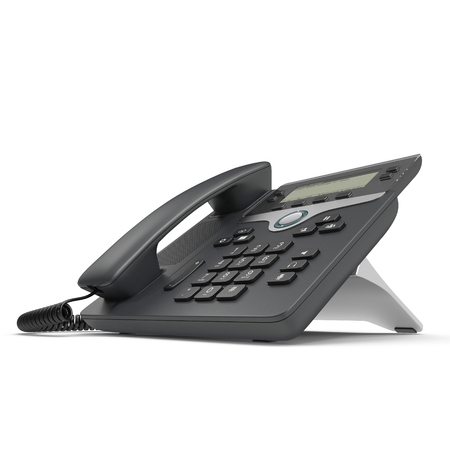 Office Phone - IP Phone technology for business on a white. 3D illustration, clipping path
