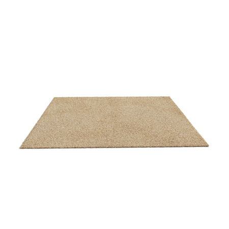 A floor brown rug isolated on a white. 3D illustration, clipping path